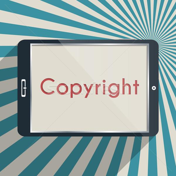 Auteursrecht bescherming intellectuele eigendom ontwerp illustratie business Stockfoto © Bratovanov