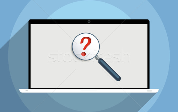 Búsqueda información soluciones la toma de decisiones Foto stock © Bratovanov