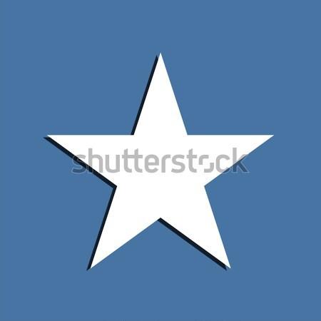 Estrela símbolo azul projeto assinar espaço Foto stock © Bratovanov