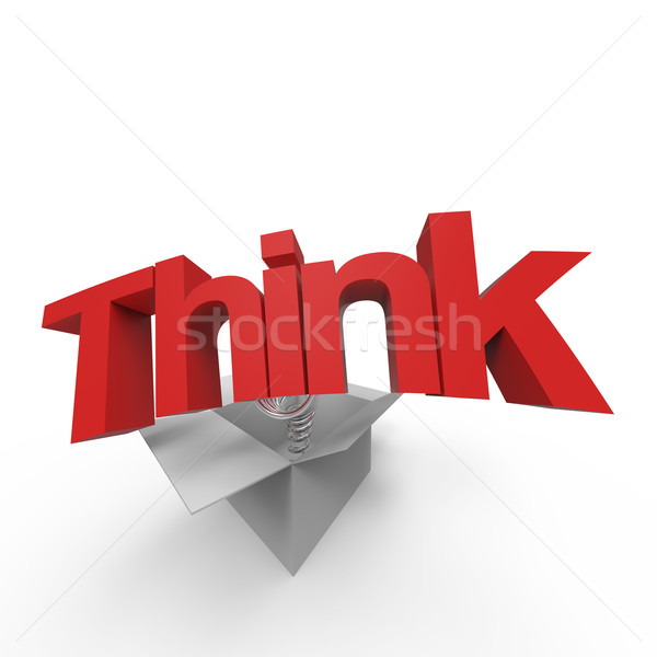 Stock foto: Denken · außerhalb · Feld · abstrakten · Hintergrund · Erfolg