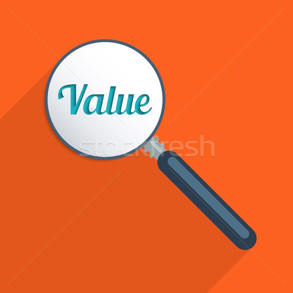 Odnaleźć wartości świat finansów projektu ilustracja Zdjęcia stock © Bratovanov