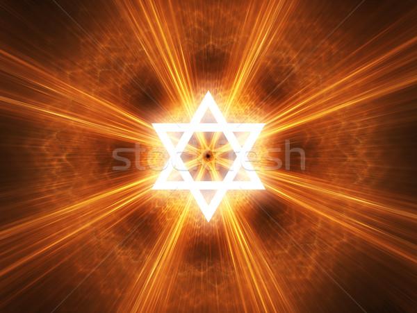 Star yahudilik dini simge ışık enerji Stok fotoğraf © Bratovanov