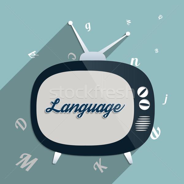 Nyelv online oktatás globális kommunikáció erő tudás oktatás Stock fotó © Bratovanov