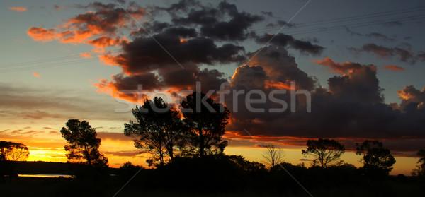 облачный небе дороги захватывающий закат мнение Сток-фото © Bratovanov