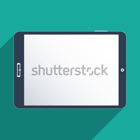 таблетка экране дизайна иллюстрация интернет технологий Сток-фото © Bratovanov