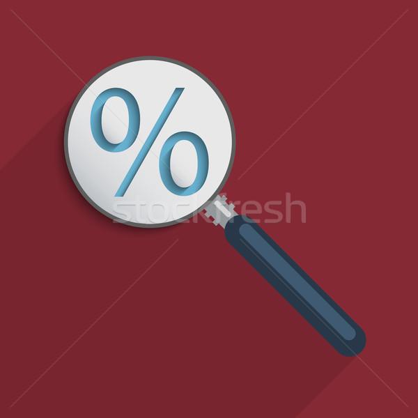 Percentagem assinar negócio ecommerce virtual economia Foto stock © Bratovanov