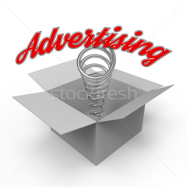 Concept for advertising industry. Stock photo © Bratovanov