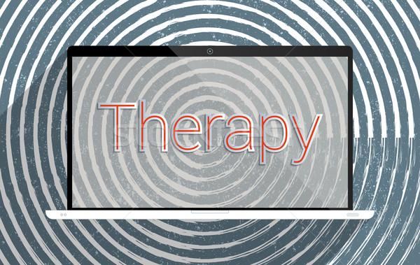 Therapie verbetering mentaal kwaliteit leven ziekenhuis Stockfoto © Bratovanov