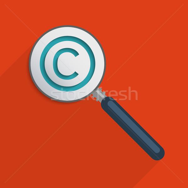 Szerzői jog szimbólum védelem szellemi tulajdon terv illusztráció Stock fotó © Bratovanov