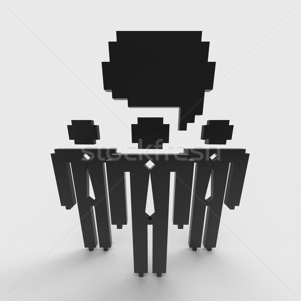 Pessoas de negócios pequeno grupo negócio indivíduos ilustração Foto stock © Bratovanov
