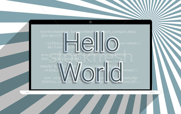 привет Мир узнать Код компьютер Сток-фото © Bratovanov