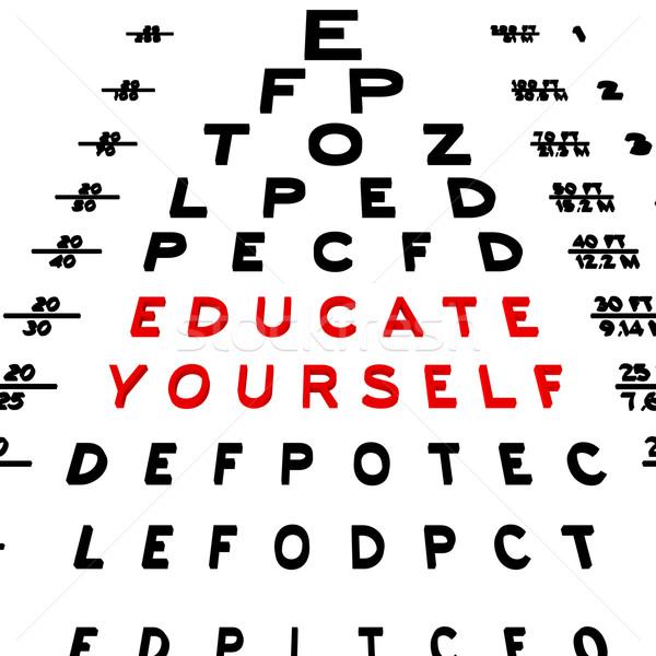 воспитывать себя аннотация глаза диаграммы дизайна Сток-фото © Bratovanov