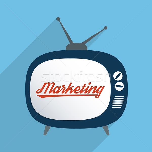 Masse médias publicité industrie marketing design Photo stock © Bratovanov