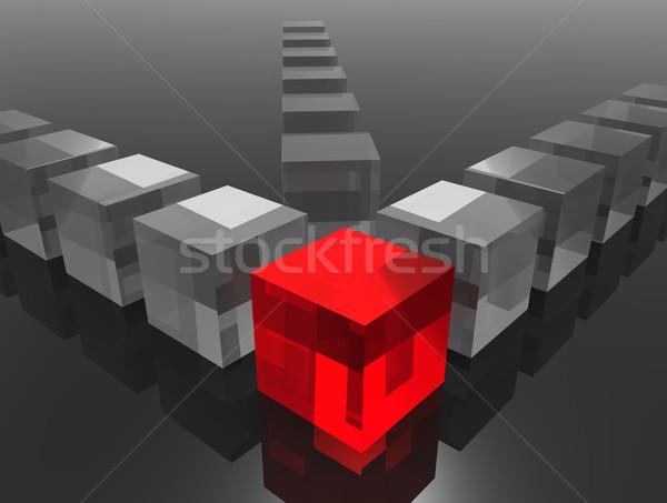 Manager leiderschap digitaal gegenereerde afbeelding business Stockfoto © Bratovanov