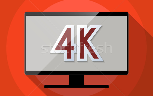 Concept for Ultra high definition television (UHDTV), 4K resolution and High tech revolution. Flat d Stock photo © Bratovanov