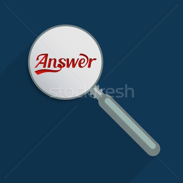 Réponses questions vérité curiosité design Photo stock © Bratovanov