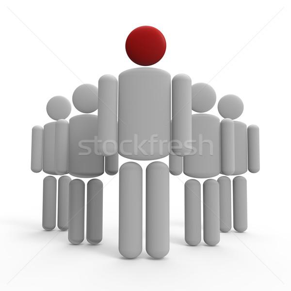 руководство человека команде бизнеса толпа фон Сток-фото © Bratovanov
