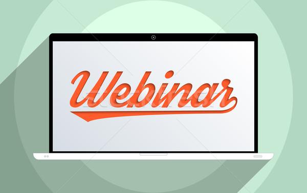 Stockfoto: Webinar · onderwijs · ontwerp · illustratie