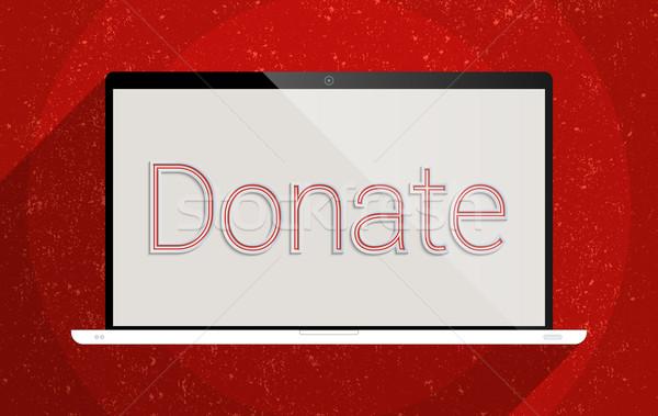 寄付する 表示 呼び出し 参加 ノートパソコン 背景 ストックフォト © Bratovanov
