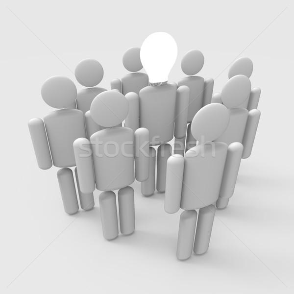 Homem trabalho em equipe negócio multidão fundo Foto stock © Bratovanov