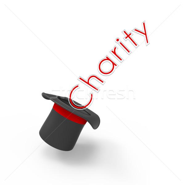 Hayır üst şapka beyaz kampanya Stok fotoğraf © Bratovanov