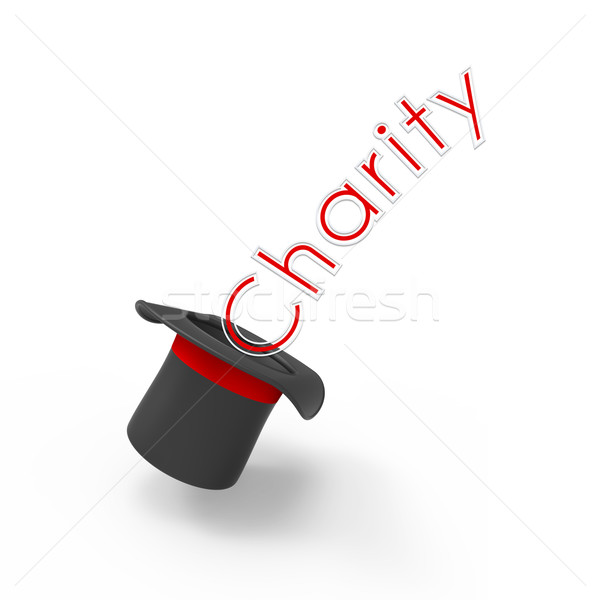 Caridad superior sombrero blanco campaña Foto stock © Bratovanov