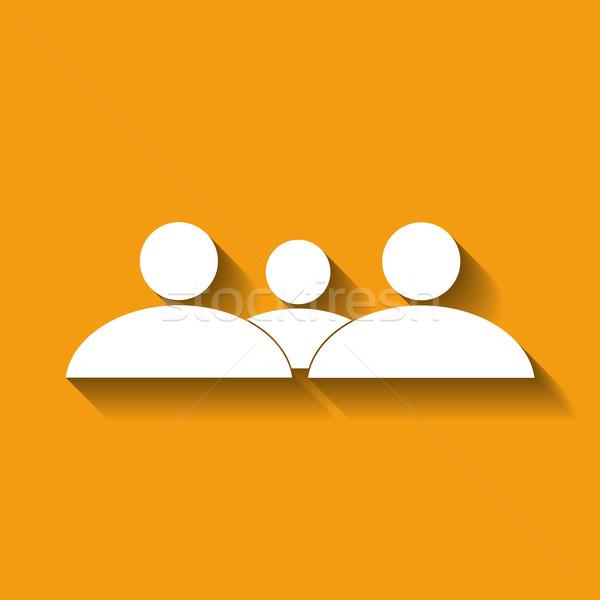 Pessoas grupo símbolo laranja escritório Foto stock © Bratovanov