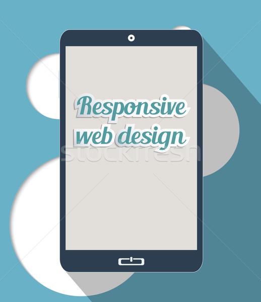 Foto d'archivio: Di · risposta · web · design · nuovo · design · illustrazione