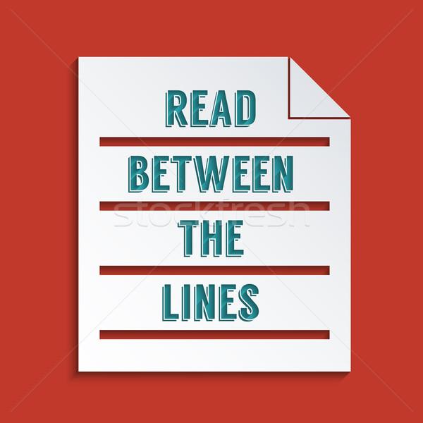 Podwoić znaczenie czytania linie streszczenie projektu Zdjęcia stock © Bratovanov