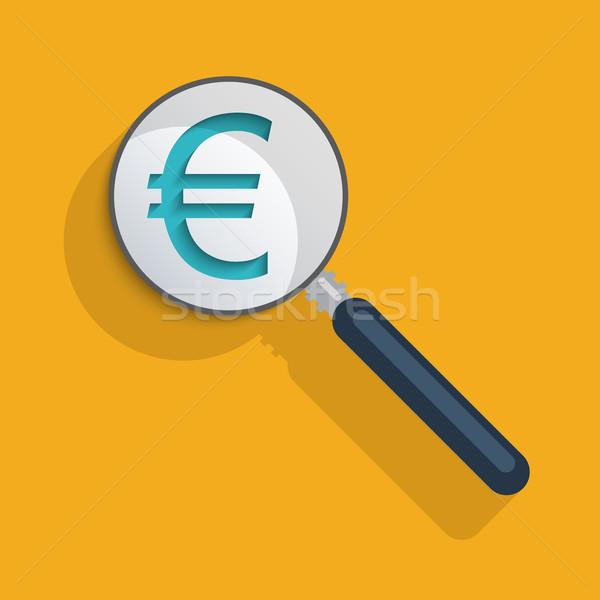 евро знак бизнеса электронной коммерции фон Сток-фото © Bratovanov