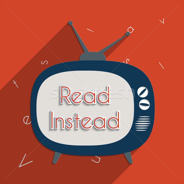 を読む 電源 知識 教育 読む デザイン ストックフォト © Bratovanov