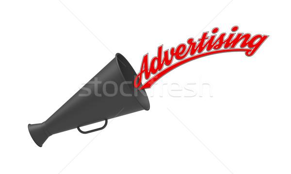 реклама мегафон белый подпись промышленности маркетинга Сток-фото © Bratovanov