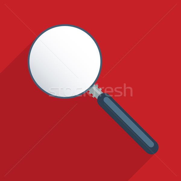 Magnifier - blank template Stock photo © Bratovanov