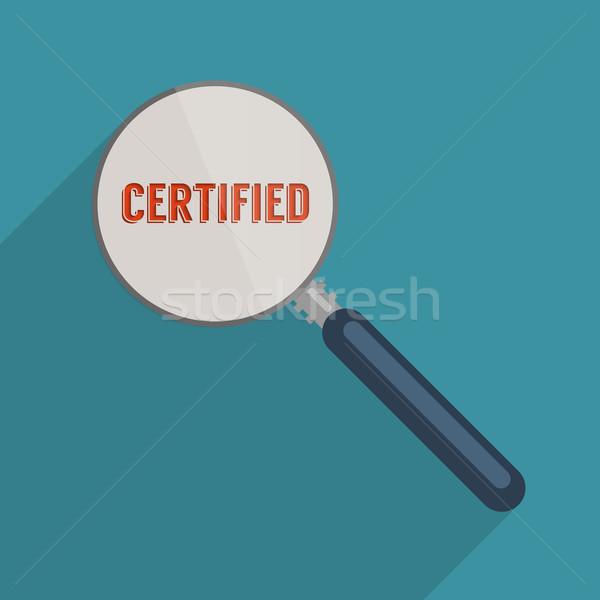 Certificado qualidade gestão projeto ilustração Foto stock © Bratovanov