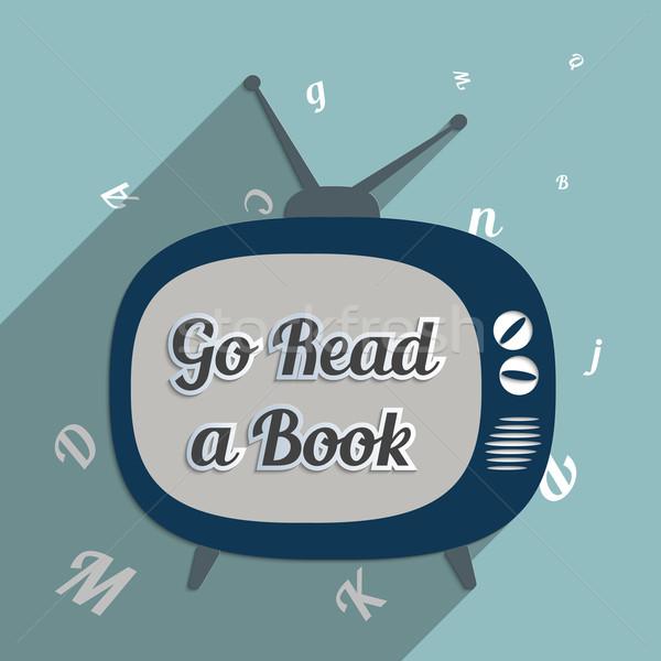 を読む 図書 電源 知識 教育 読む ストックフォト © Bratovanov