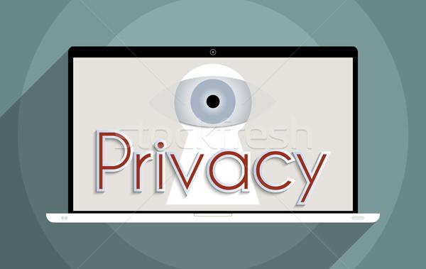 Gizlilik bilgi güvenlik kişisel dizayn Stok fotoğraf © Bratovanov