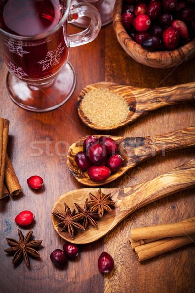 Ingredientes quente vinho cozinhar comida Foto stock © brebca
