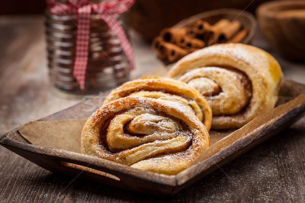 Homemade cinnamon rolls Stock photo © brebca