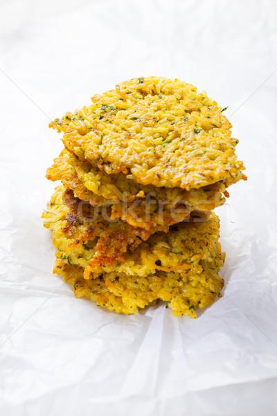 Pirinç krep ev yapımı otlar sağlık akşam yemeği Stok fotoğraf © brebca