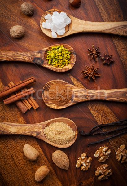 Aromatisch ingrediënten christmas cookies voedsel Stockfoto © brebca