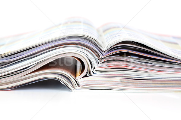 öffnen Zeitschriften Batch Schule Zeitung Stock foto © brebca