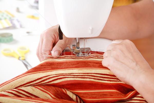 швейные машины подробность рук фон рабочих машина Сток-фото © brebca