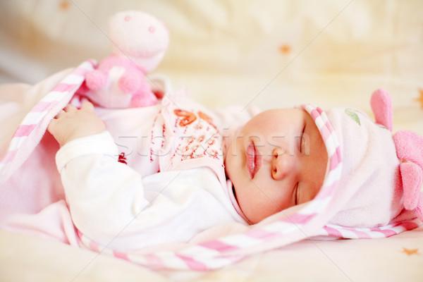 Sleeping baby Stock photo © brebca