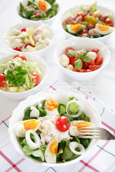 Small salads Stock photo © brebca