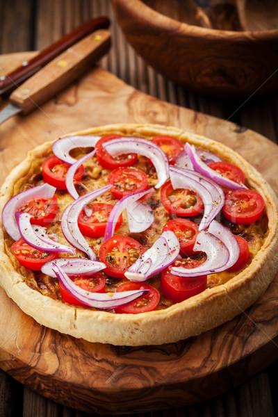 Spek traditie frans ui tomaat kaas Stockfoto © brebca