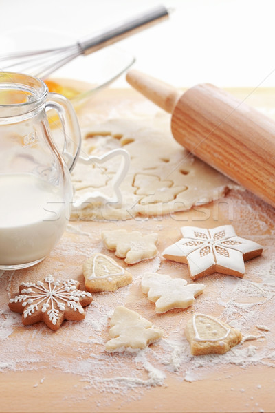 Baking Christmas cookies Stock photo © brebca