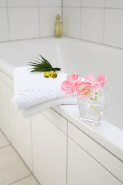 Bathroom detail in white Stock photo © brebca