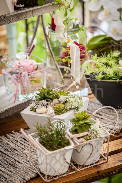 Garden decoration shabby chic style Stock photo © brebca