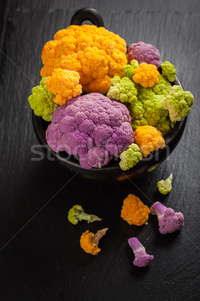 Assortment of organic cauliflower  Stock photo © brebca