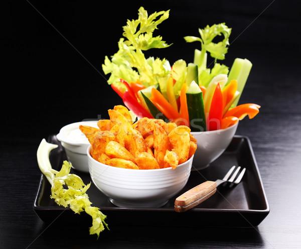 生 野菜 ディップ クリーム チーズ 食品 ストックフォト © brebca